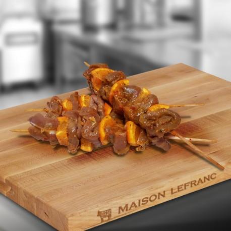 brochettes de poulet mangues